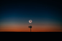Colorful Waning Crescent Moonrise